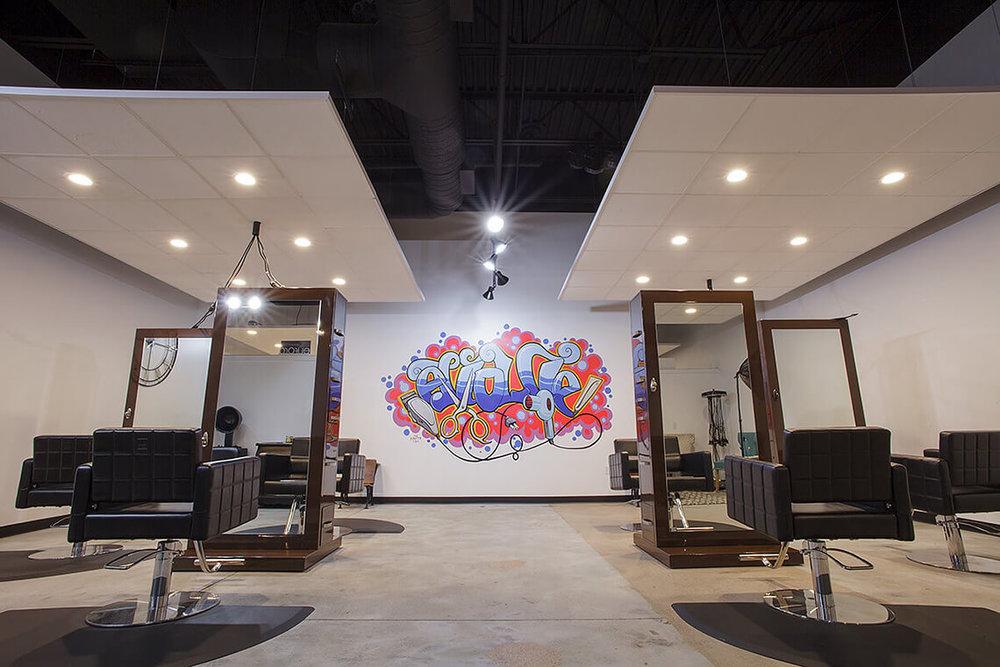 6-Commercial-Architectural-Photographer-York-PA-Ken-Bruggeman-Photography-Evolve-Salon-Styling-Stations-Graffiti-Wall.jpg