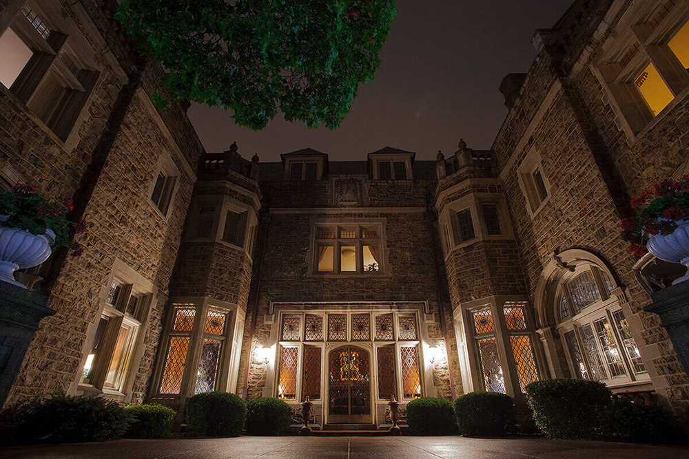 1-Commercial-Architectural-Photographer-York-PA-Ken-Bruggeman-Photography-Historic-Hahn-Home-George-St-Funeral-Home-Night-Entrance-Lighting.jpg