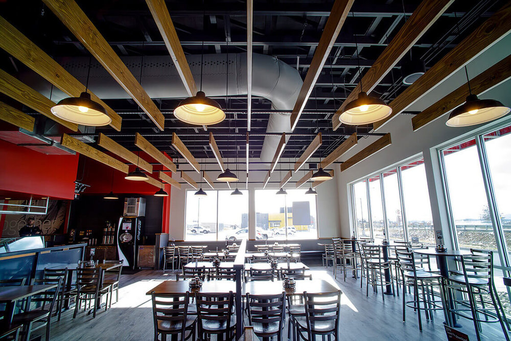 6-Commercial-Architectural-Photographer-York-PA-Ken-Bruggeman-Photography-Restaurant-Pie-Five-Pizza-Company-Wood-Slat-Suspended-Ceiling-Dining-Area.jpg