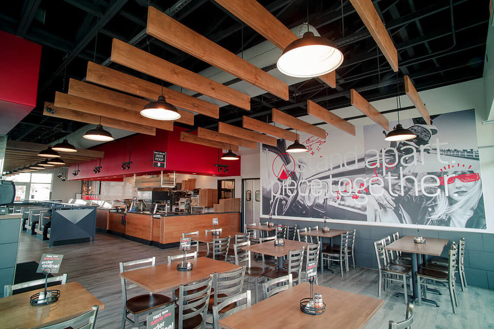10-Commercial-Architectural-Photographer-York-PA-Ken-Bruggeman-Photography-Restaurant-Pie-Five-Pizza-Company-Wall-Graphics-Dining-Tables-Metal-Chairs.jpg