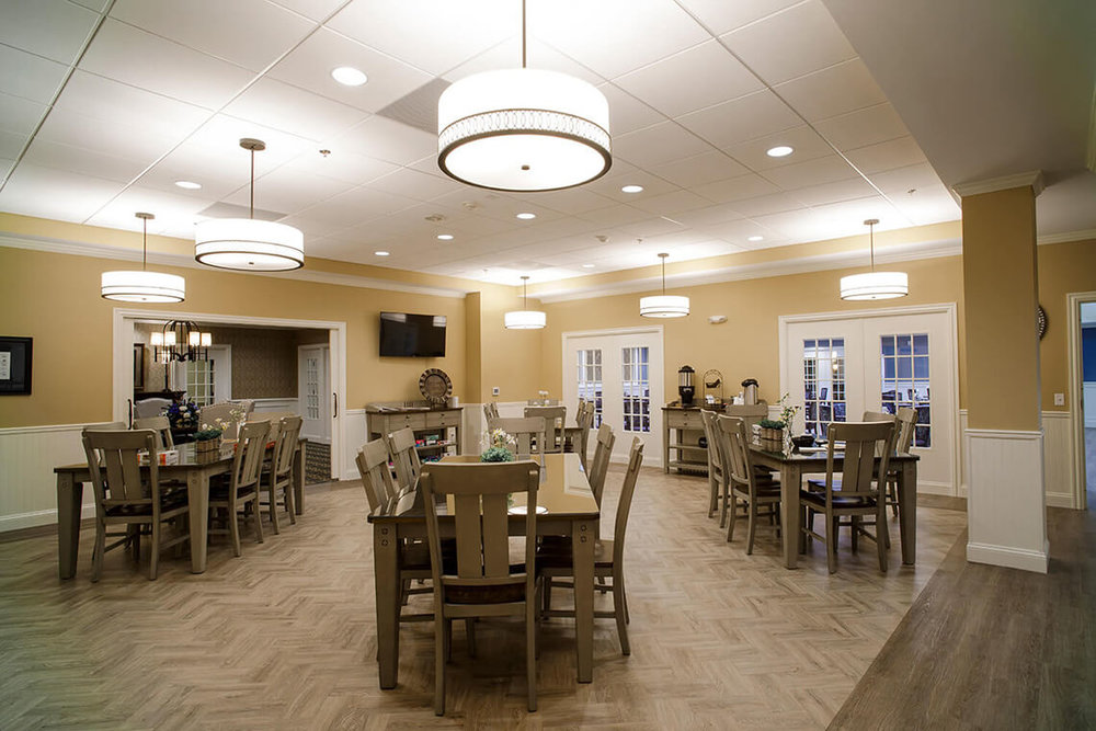 2-Commercial-Architectural-Photographer-York-PA-Ken-Bruggeman-Photography-Senior-Living-Home-Piney-Court-Laurel-Village-Common-Dining-Room-Lighting-Tables-Decorative.jpg