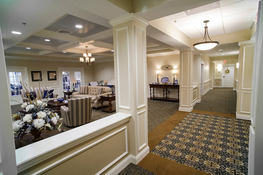 13-Commercial-Architectural-Photographer-York-PA-Ken-Bruggeman-Photography-Senior-Living-Home-Piney-Court-Laurel-Village-Classic-Wood-Decorative-Pillars-Hall-Entrance-Formal-Livingroom.jpg