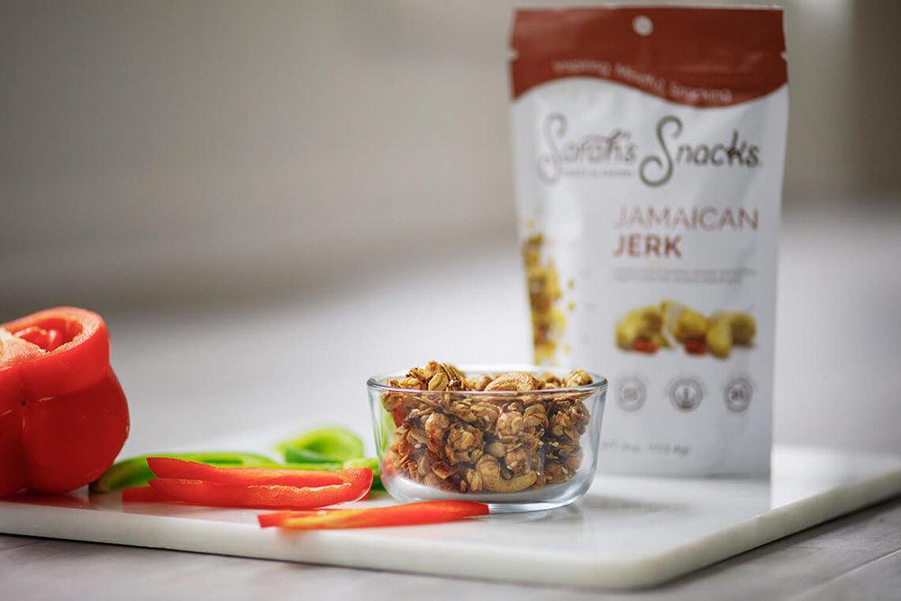 2-Commercial-Food-Photographer-York-PA-Ken-Bruggeman-Photography-Granola-Sarahs-Snacks-Jamaican-Jerk-Front-View.jpg