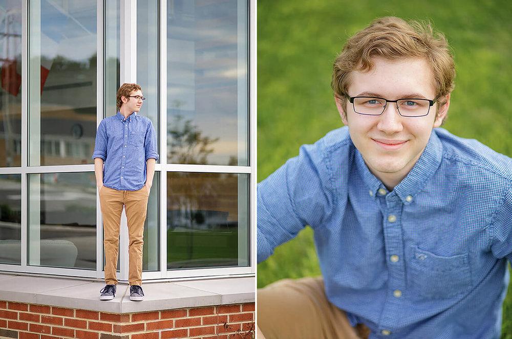 3-Senior-Portrait-Photographer-York-PA-Ken-Bruggeman-Photography-York-Country-Day-Young-Man-Sitting-Green-Grass-Smiling.jpg