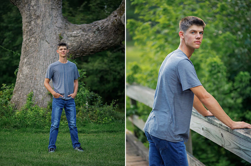 5-Senior-Portrait-Photographer-York-PA-Ken-Bruggeman-Photography-Dover_School-Boy-Gray-Shirt-Standing-Wooden-Bridge.jpg