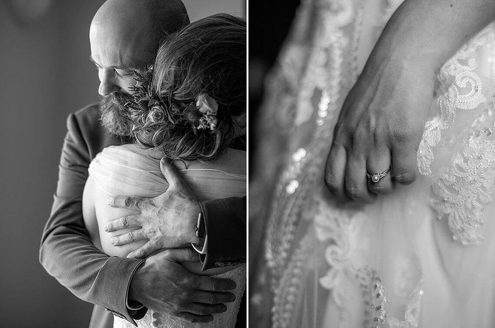 6-Max-Halterman-Sammi-Wedding-Photographer-York-PA-Ken-Bruggeman-Photography-Father-Bride-Hugging-Ring-Black-White.jpg