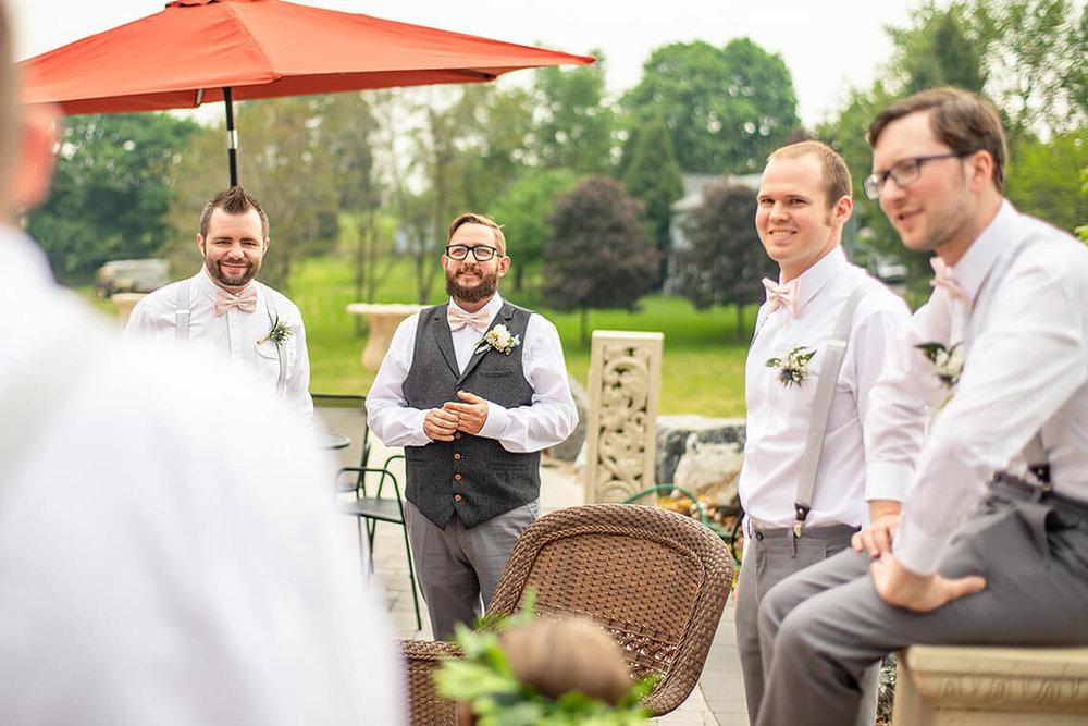 17-Max-Halterman-Sammi-Wedding-Photographer-York-PA-Ken-Bruggeman-Photography-Groom-Groomsmen-Outdoors-Smiling.jpg