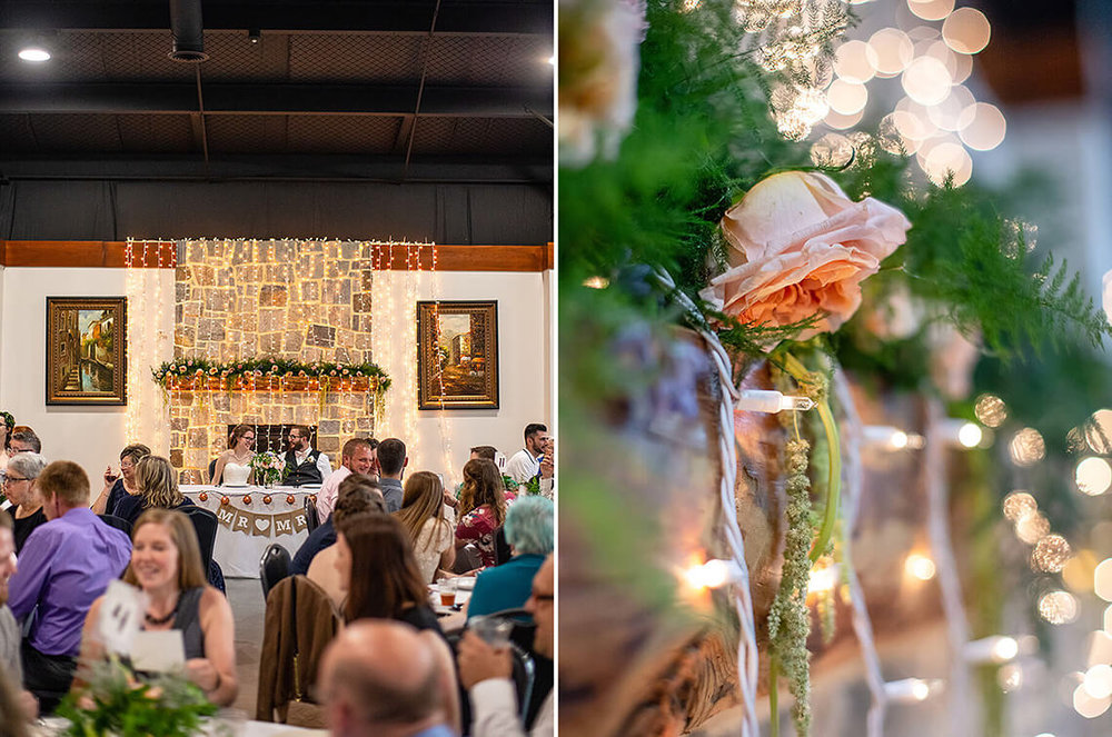 22-Max-Halterman-Sammi-Wedding-Photographer-York-PA-Ken-Bruggeman-Photography-Bride-Groom-Sitting-Table-Flowers-Lights.jpg