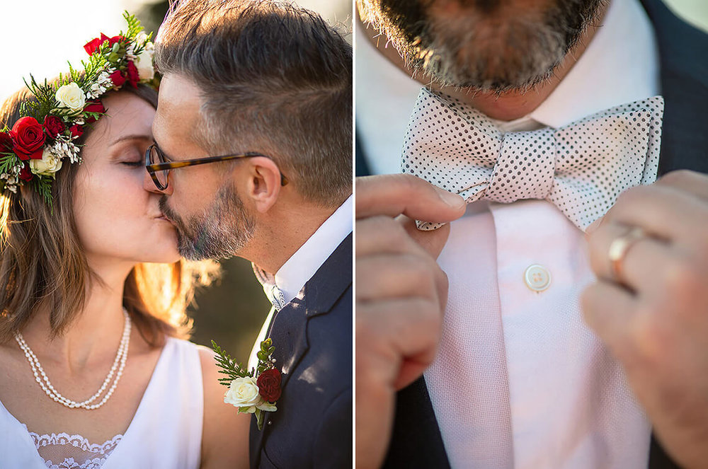 9-Wedding-Photograph-York-PA-Ken-Bruggeman-Photography-Bride-Groom-Kissing-Bowtie-Detail.jpg