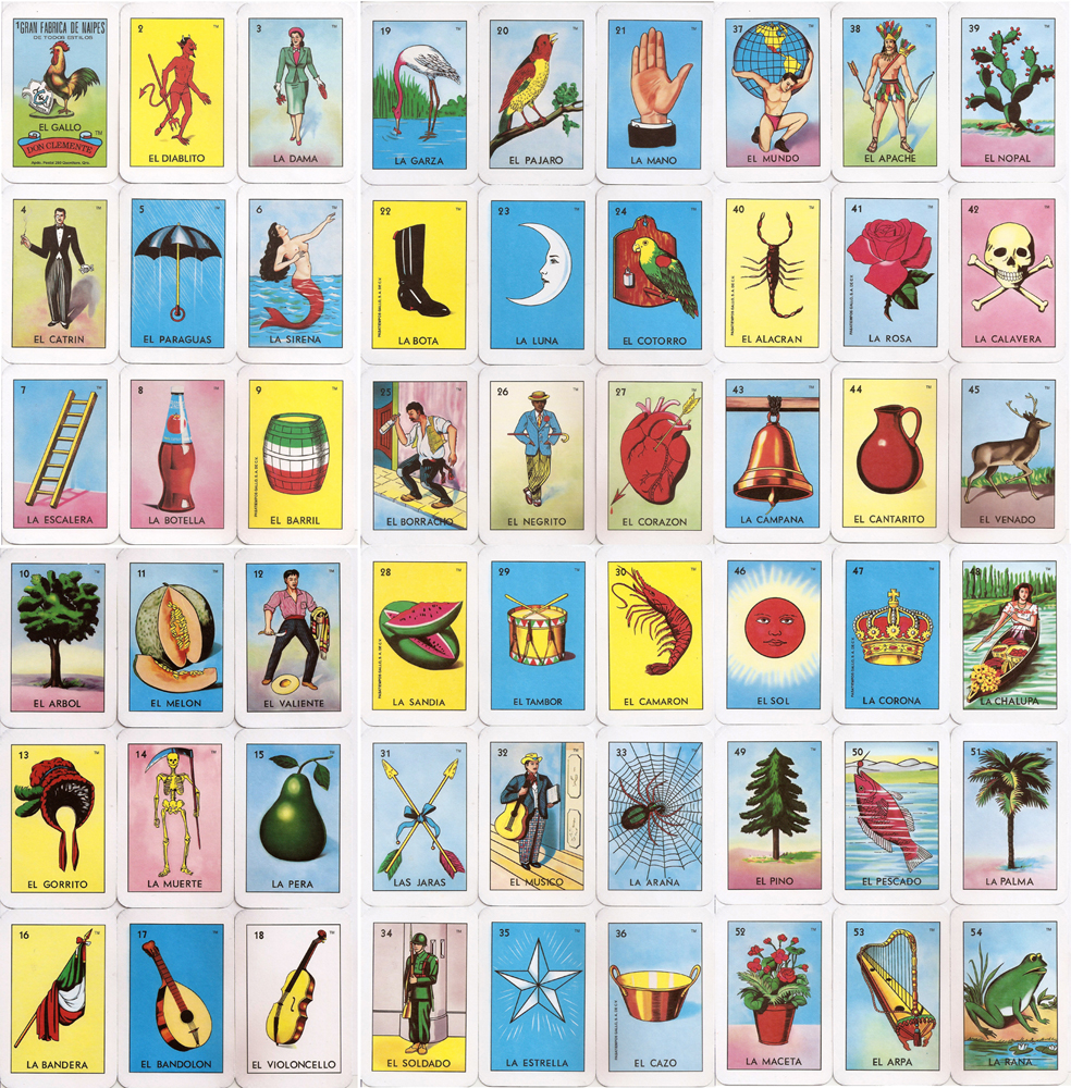 Pick Your Own La Loteria Printed Pillow In The Seam