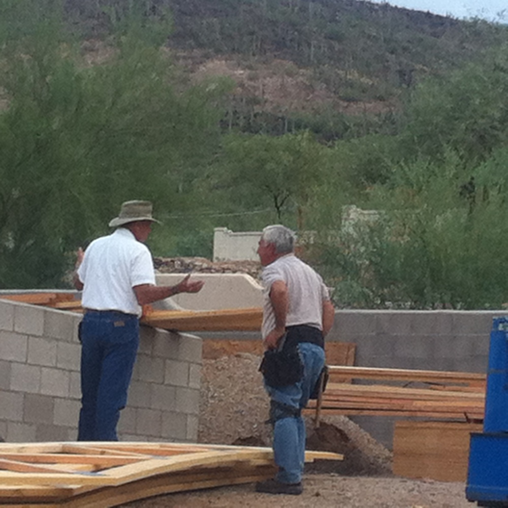 Craig the Contractor (CTC) and Uncle Bob confering on something of critical importance...I'm sure!