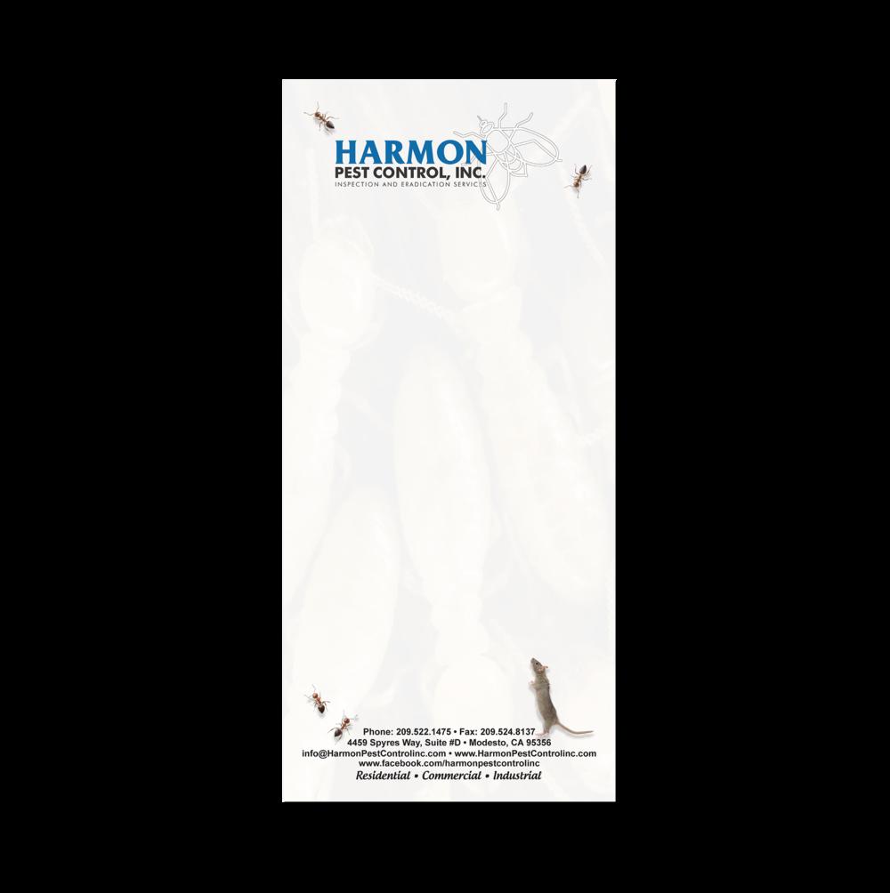 Harmon Pest Control Notepad