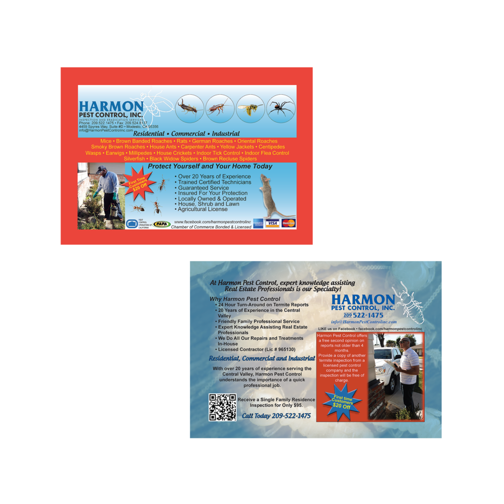 Harmon Pest Control Postcard