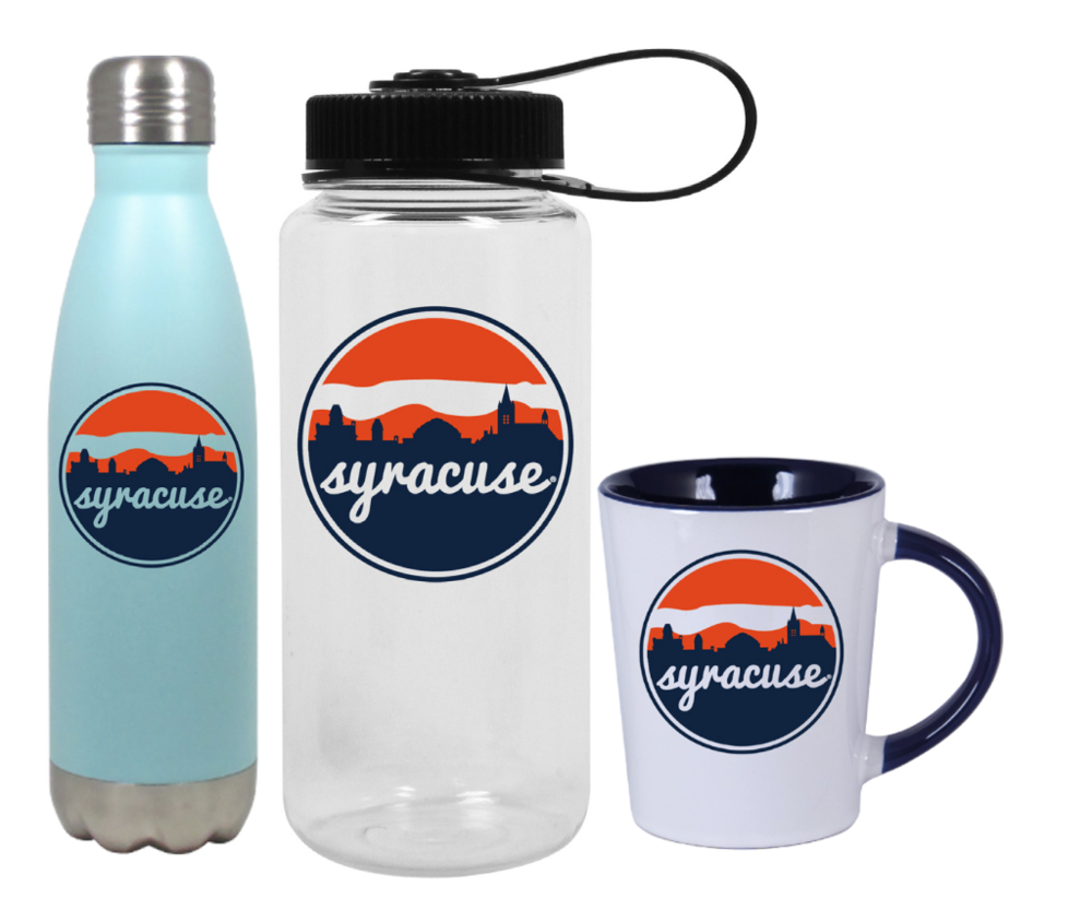 Drinkware Take your skyline with you during your morning routine with this classic mug design, available through a partnership with Nordic Company Inc.
