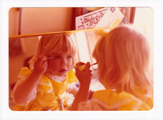 The Anonymous Makeup Artist at age 3.  The obsession started young.