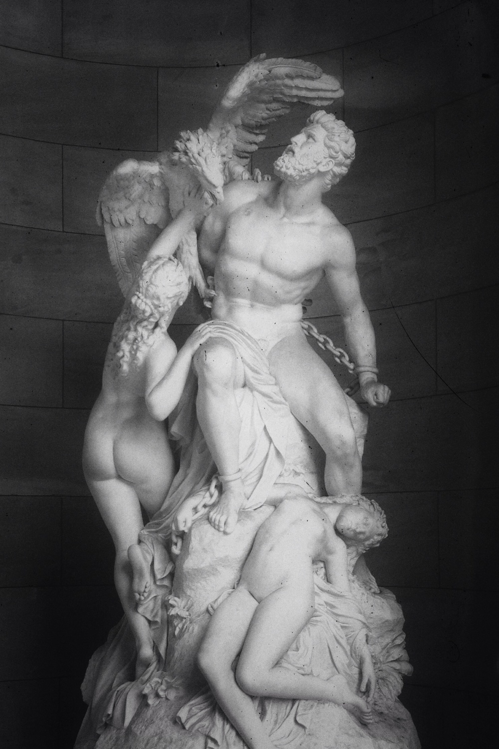 Prometheus and the Oceanids  by Eduard Müller 1879   I saw this outside of the Alte Nationalgalerie on Museumsinsel. The posing, fabric and emotion caught my attention.