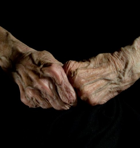 Louise Bourgeois' hands.