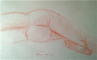Celeste's First Life Drawing. Age 12.
