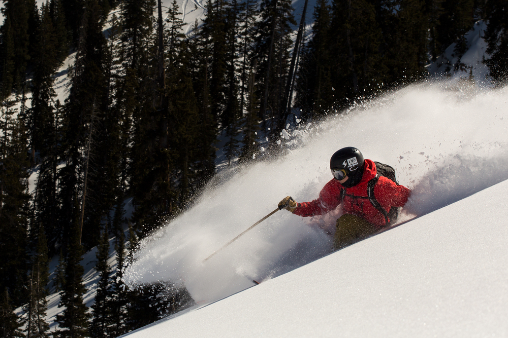 Luke Perin skiing the backcountry of Brighton Ski Resort