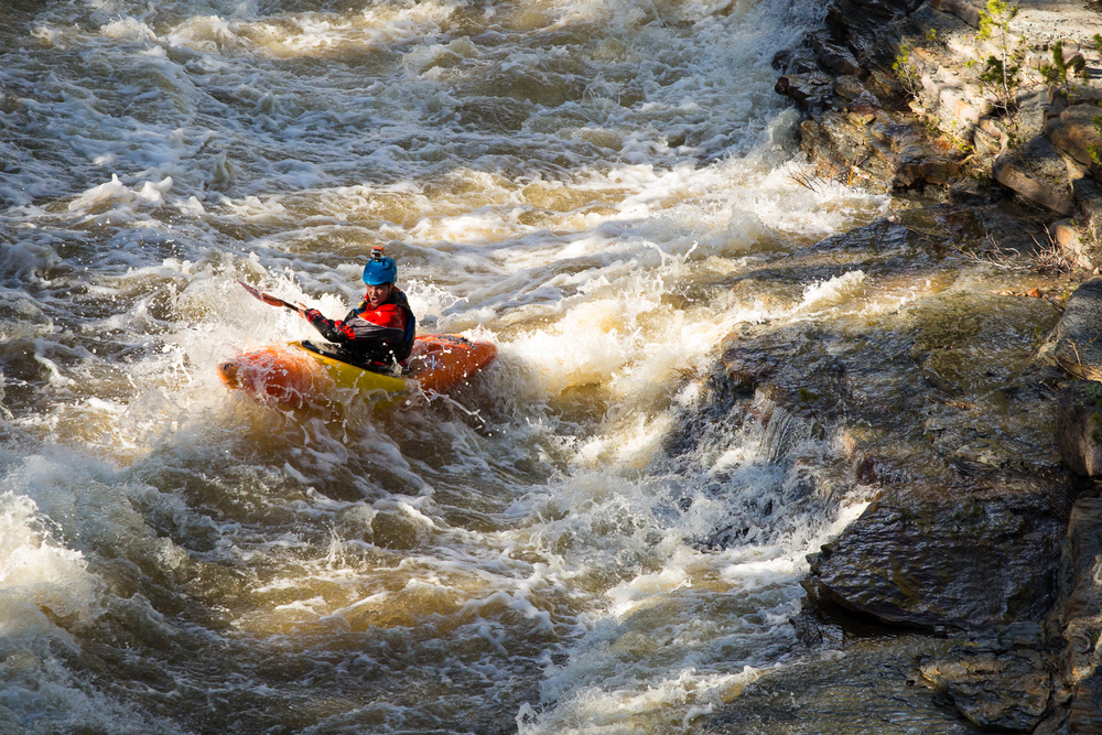 Whitewater Kayaking on the Upper Provo River in Utah
