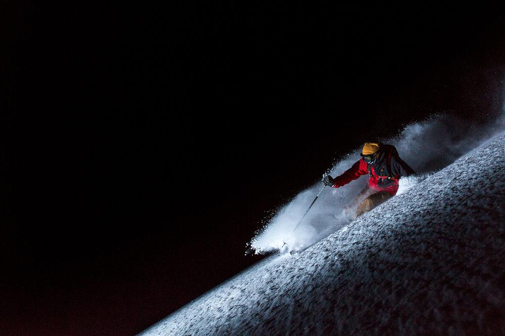 Eric Fabbri skiing in the Alta Backcountry