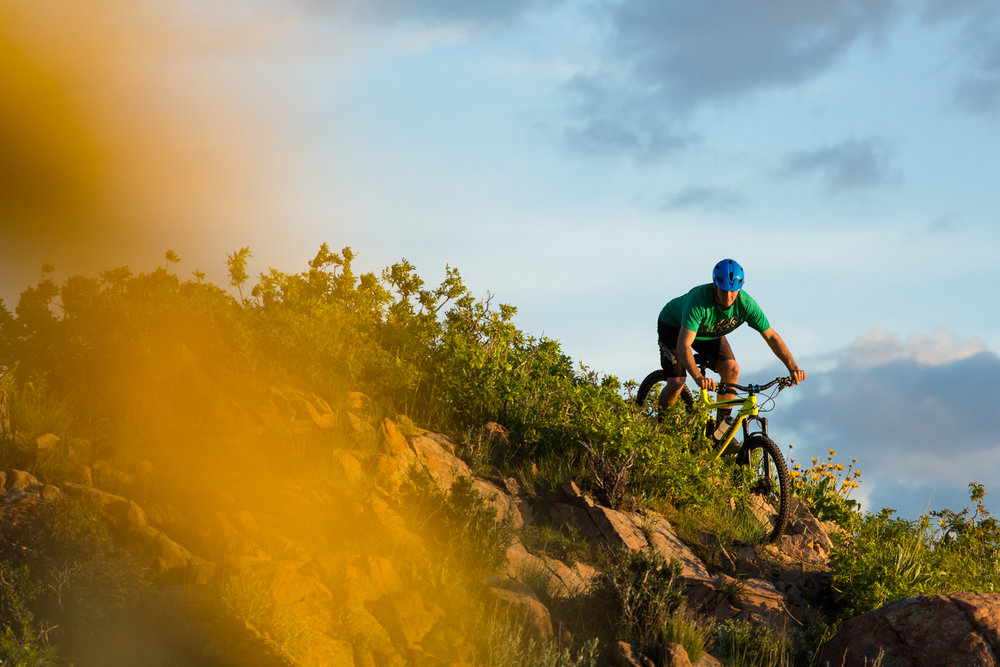 Galen Carter riding in the foothills of the Wasatch Front outside of Salt Lake City, Utah