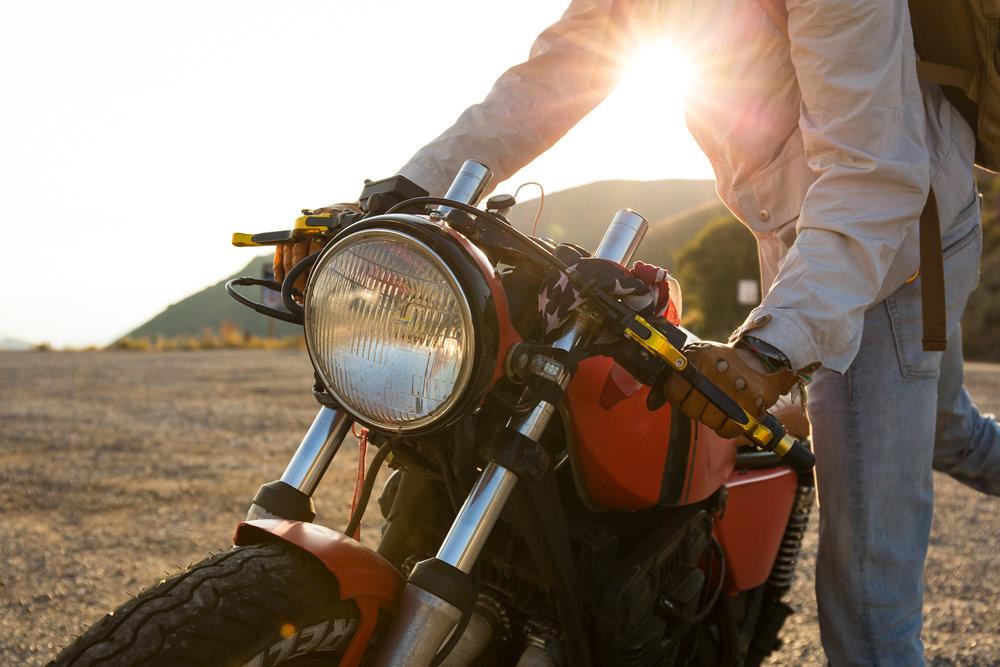 Riding Cafe Racer bikes in East Canyon, near Salt Lake City, Utah