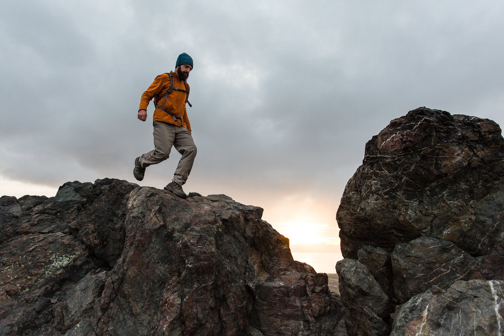 Hiking at Antelope Island State Park, Utah