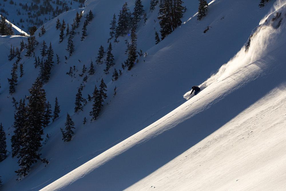 Rob Aseltine backcountry skiing Days Fork in Utah