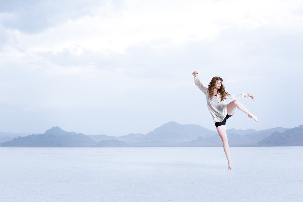 Modern Dance out on the Bonneville Salt Flats near Wendover, NV
