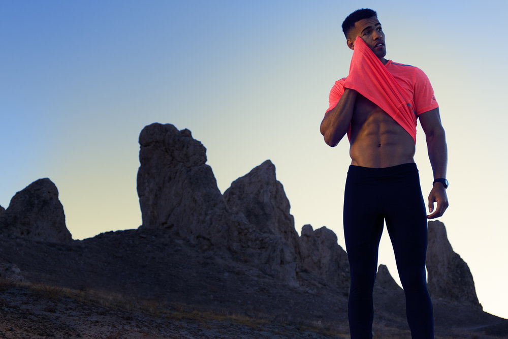 Fitness Photography with Thaddeus Coomber at Trona Pinnacles, CA