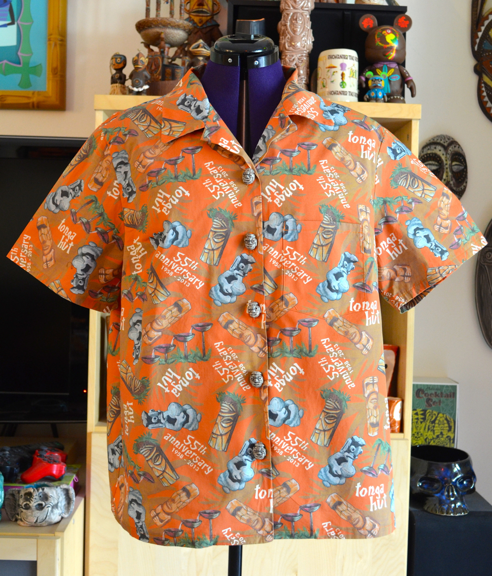 Tonga Hut 55th Anniversary aloha shirt