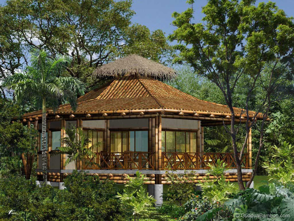 The reality about building with bamboo guadua bamboo for Native house plan