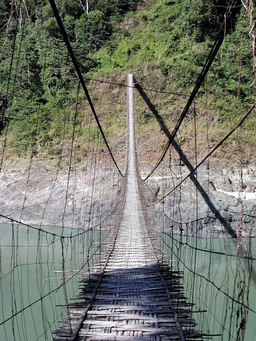 Bamboo Suspension Bridge - Courtesy: Paul S.