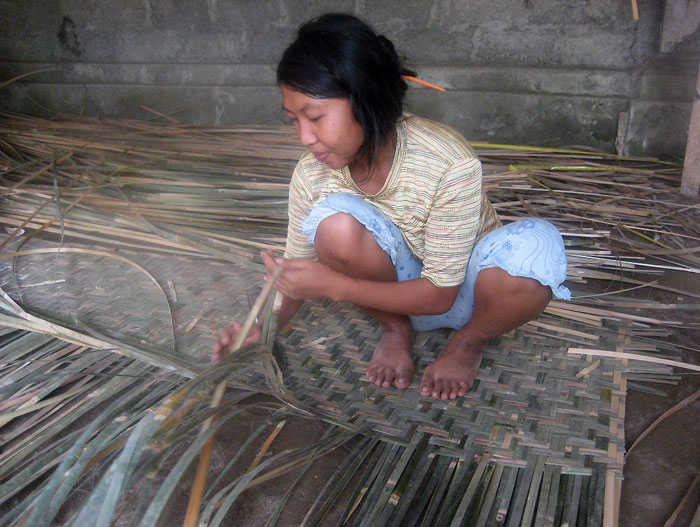 Bamboo Mat Weaving