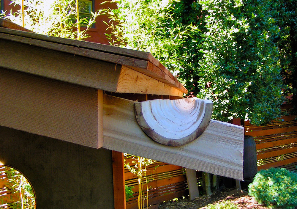 Bamboo Rain Gutter  - Courtesy: Paul Sypkes