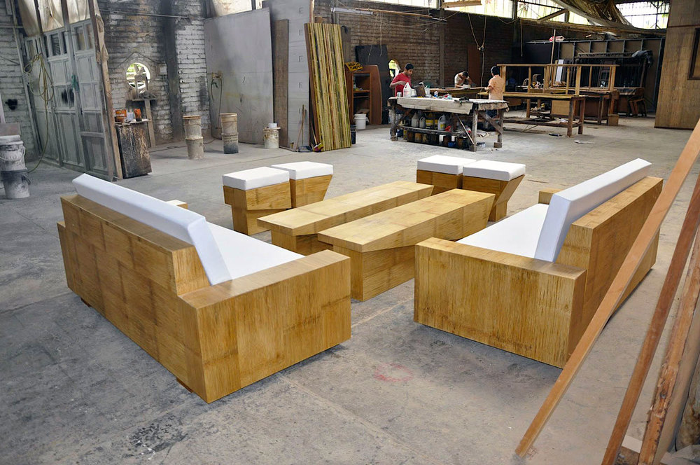 Crushed Bamboo Panel Furniture
