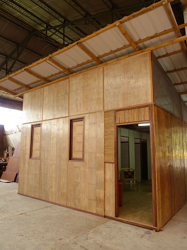 Crushed Bamboo Panel House