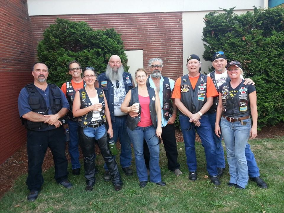 The group as we ended up at the Spaghetti Feed Fundraiser at Woodland, WA. L to R: Dennis Adams, Jeff Chaplin, Shannon Whitlock, Roy Hood, Sandra Infante, Tom Infante, Bill Lusk, Curtis Ulrich and Lisa Ulrich.