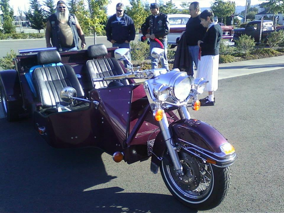 Curtis Ulrich's brother, Lanny brought his custom trike which won best vintage motorcycle.