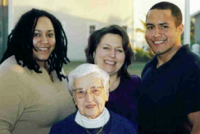 Natalie, Grandma, Mom (Marie) and brother, Javair (2001)