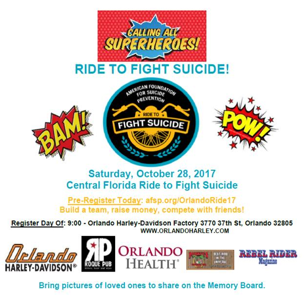 AFSP-CFL Ride to Fight Suicide 2017