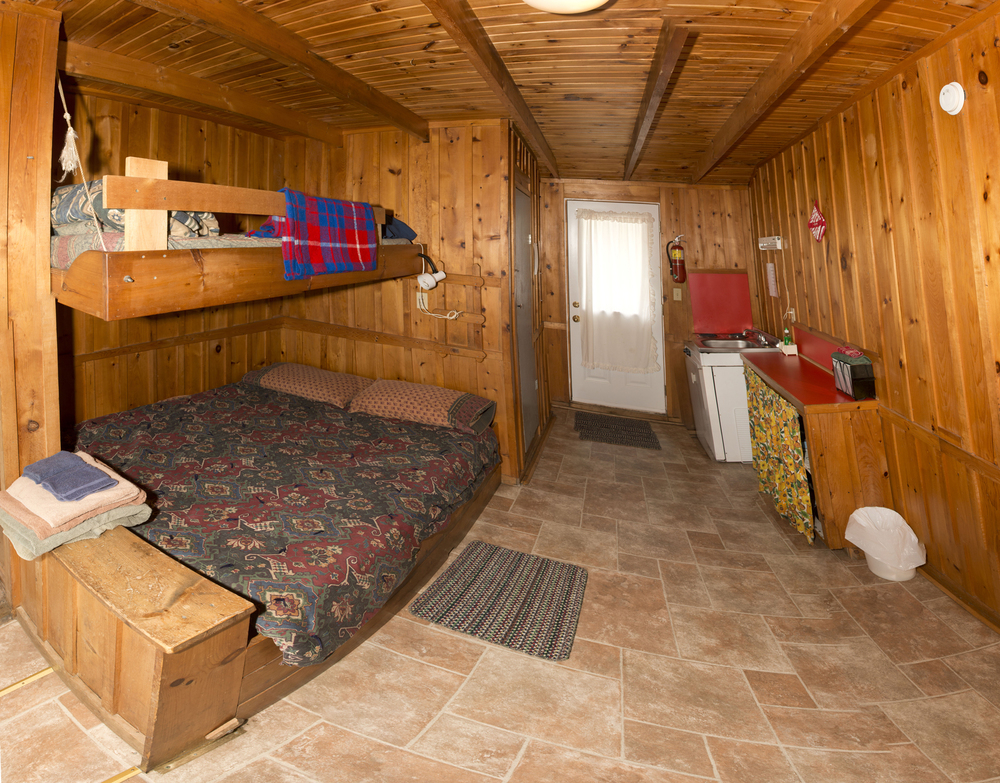 Cabin #6 - Interior Panorama (Cabin #5 shares identical layout)