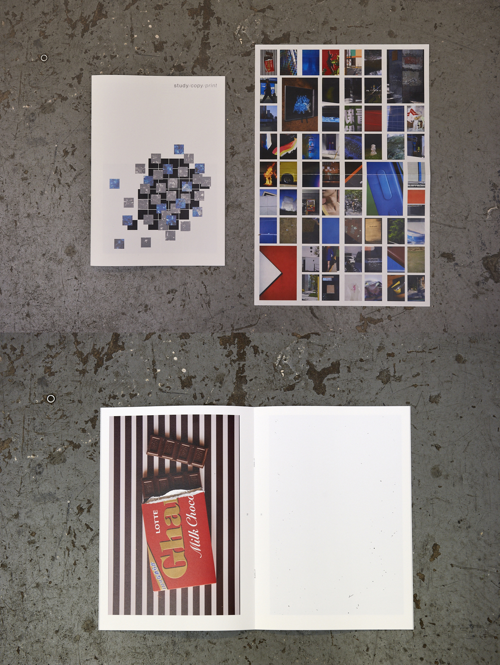 Exhibition Catalogue photography by go itami graphic design by hirokazu matsuda published by rondade ROND-23 Edition 500 Size: 210×297 mm Number of pages: 20 pages Type of printing: Offset