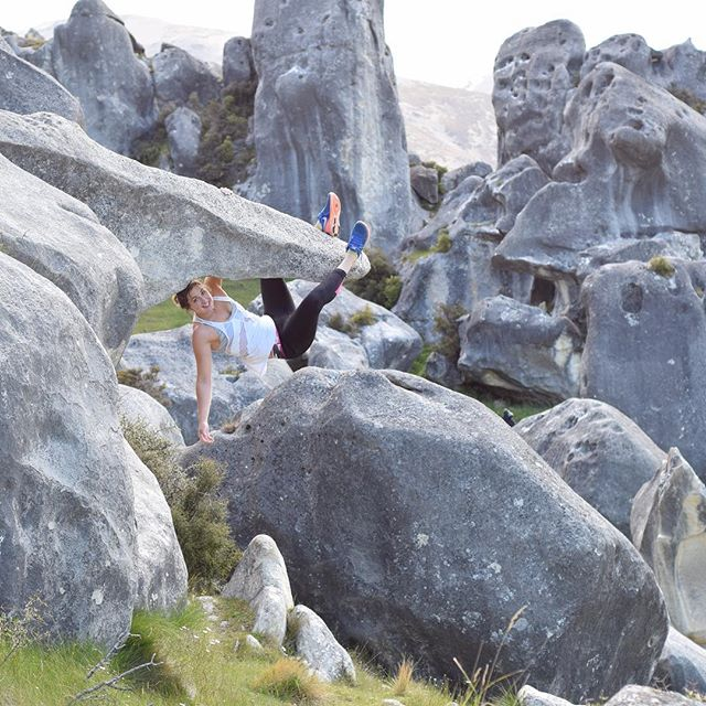 Emma Horan (@emmawarriorprincess) gets lucky and finds this gem - the infamous Castle Hill, New Zealand 😍