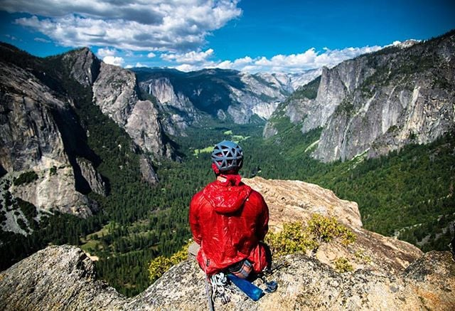 Photo by @tedhesser - perched atop Cathedral Spire in Yosemite, @migaloots finds a blissful moment of zen with unbeatable views that require more than just a car drive to get too. Yosemite National Park, CA.