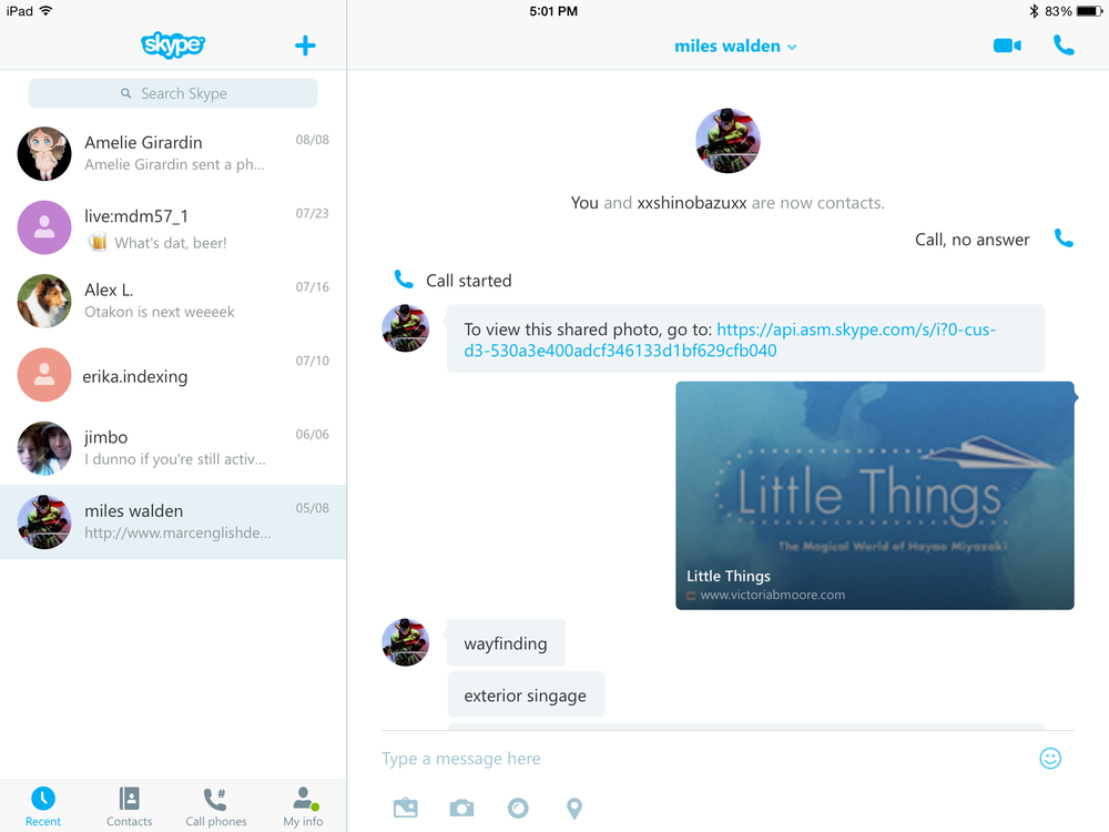 Skype - Video and Audio Messaging