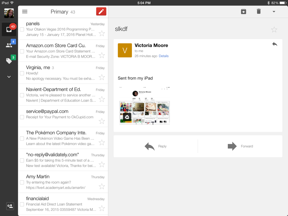 Gmail - Email/Private Messaging
