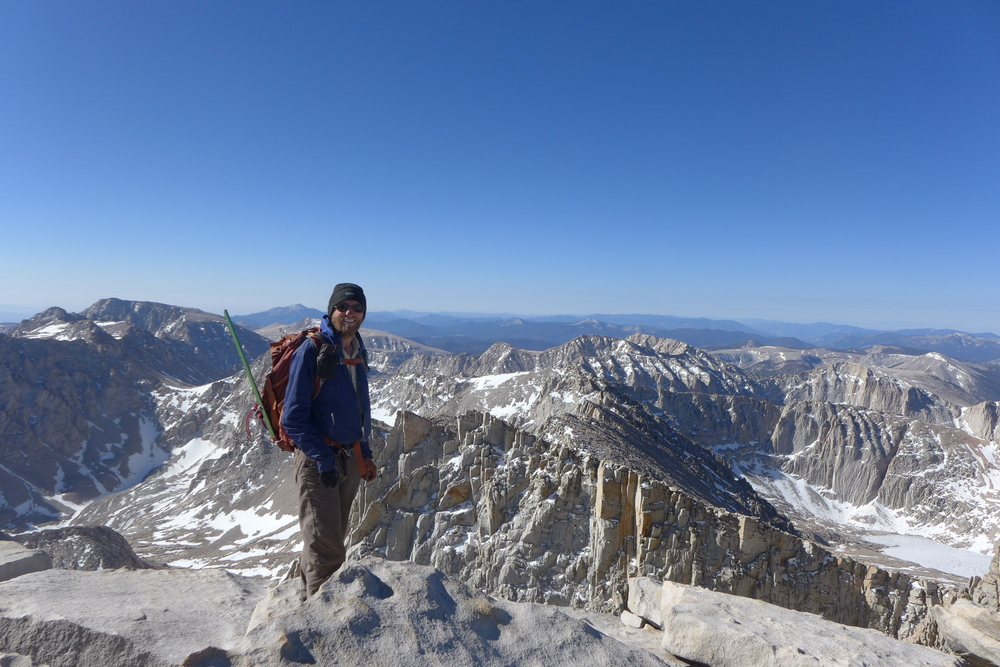 Reached the summit of Mount Whitney at 8:30 in the morning,