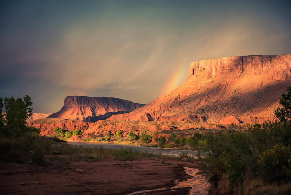 The Rainbow Before the Storm, Colorado River Near Moab